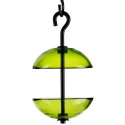 Mosaic Birds Double Hanging Poppy Feeder Lime